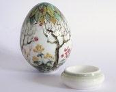 """Easter, Porcelain Egg """"Tree of Life"""""""