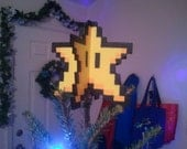 Original 3D Perler Mario Star - Decoration or tree topper