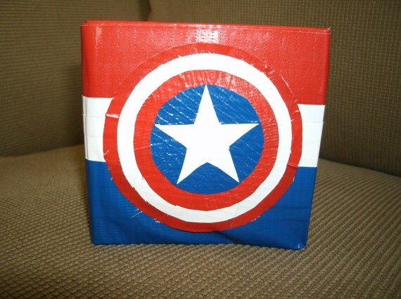 Captain America Duct Tape Wallet By Ducttapedad On Etsy
