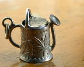 Vintage Sterling Silver Constructed Floral Watering Can Charm