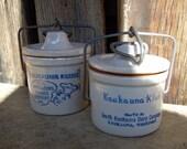 SALE Pair of Kaukauna Klub Dairy Crocks