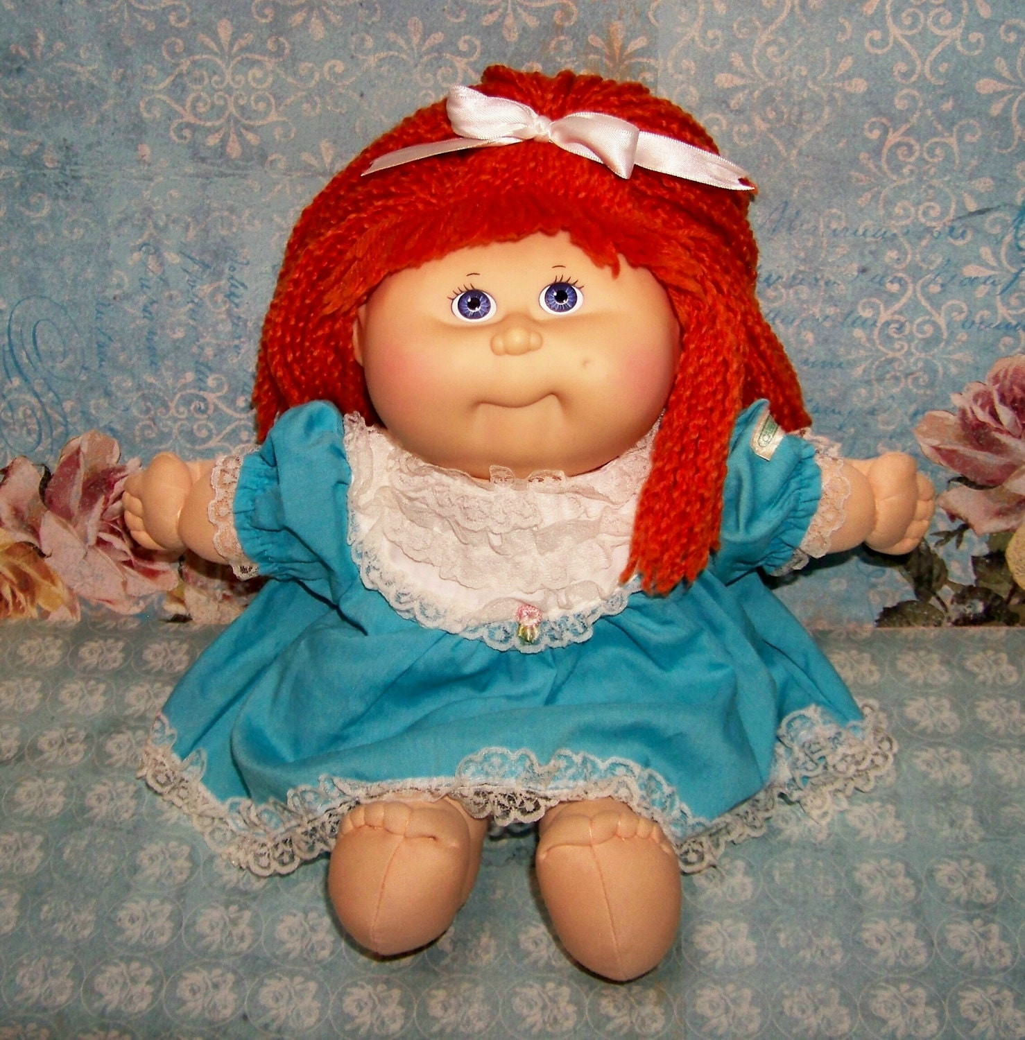 Very Nice Vintage Darling Red Hair Cabbage Patch Doll Mona