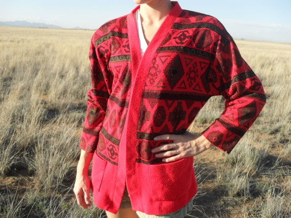 Southwest Ethnic Sweater Jacket