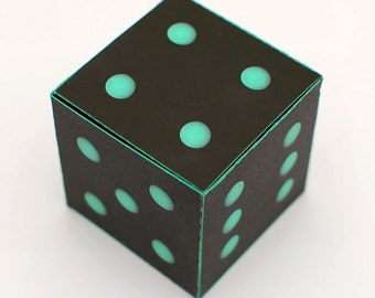 Roll the dice printable DIY gift box fun packaging, favor box, cupcake box, small mini gift box, INSTANT DOWNLOAD