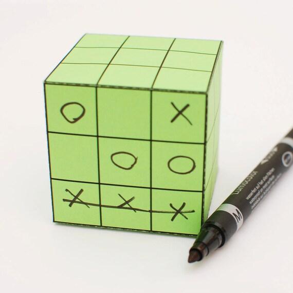 Tic-Tac-Toe printable DIY gift box fun packaging, favor box, cupcake box, small mini gift box, INSTANT DOWNLOAD