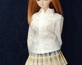 Light Plaid School Pleated Skirt for Dollfie Dream