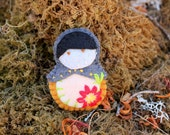 Matryoshka Embroidered Felt Plush Doll - Autumn
