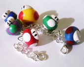 Nintendo Super Mario Mushroom Charm Bracelet - Super, Mega, 1up, Mini, Poison, Shadow