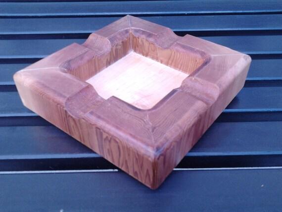 Cedar ash tray