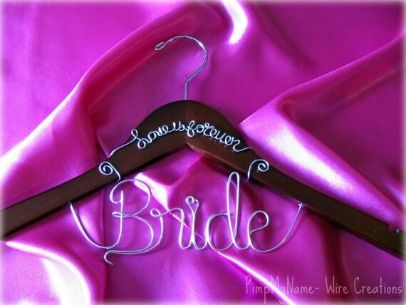 Bridal Dress Hanger (Bride Hanger) Love is Forever Personalized Hangers Custom Made