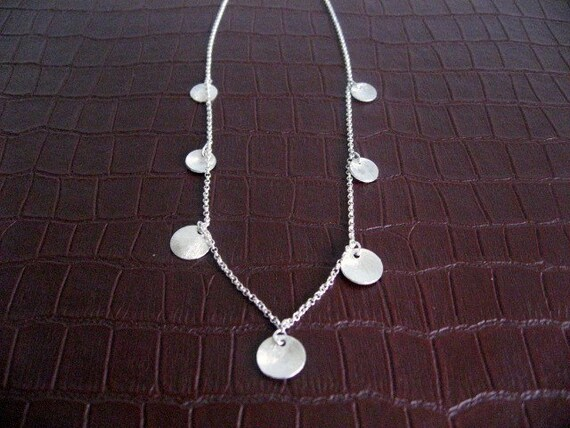 Sterling Silver Concaved Coin Necklace