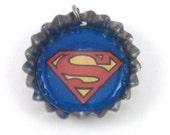 MEGA Sale Superman Bottlecap (Bottle Cap) Necklace, Cell Phone Charm, or Keychain (CB 021)