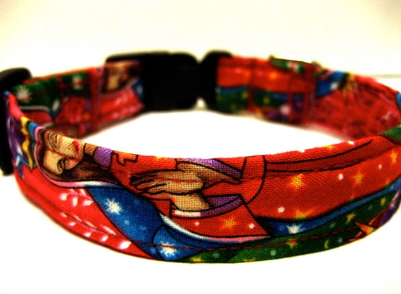 Lady of Guadalupe dog collar / Virgin Mary / Blessed Mary / Red / Rockabilly Pet Collar