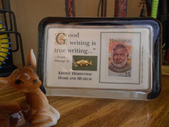 24 Karat Gold Ernest Hemingway Paperweight