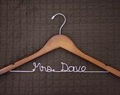 5 Walnut Wedding Dress Hangers - Custom Bridal Dress