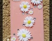 Lacy's 3D Cutie Sun Flower Iphone 4 n 4s case -- peach