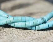KingmanTurquoise Beads. Rondelle. Gemstone Beads. Natural Turquoise.