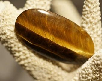 Tigereye Gemstone Cabochon 46X24x6mm.Hand Cut Natural Gemstone Cabochons