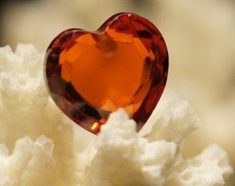 Cubic Zirconia 10mm Heart Natural Gemstone Beads Jewelry Making Supplies