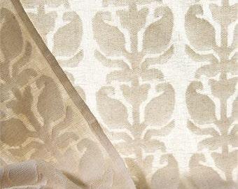 COTTON: semi-transparent cotton curtain in off white