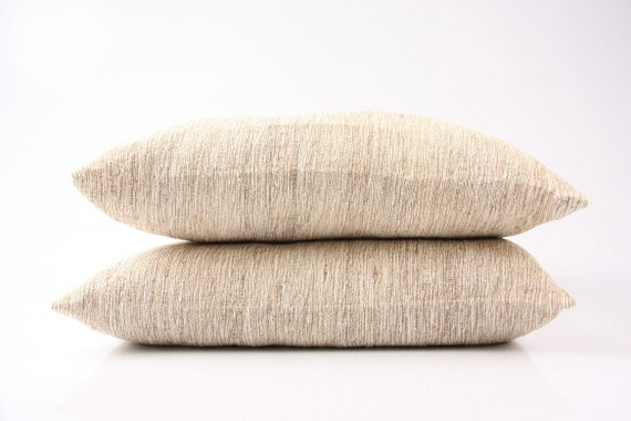"ORGANIC: wild-silk pillow (19 x 19 "") with inlet or without in different sorts of raw / wild silk (see photos)"