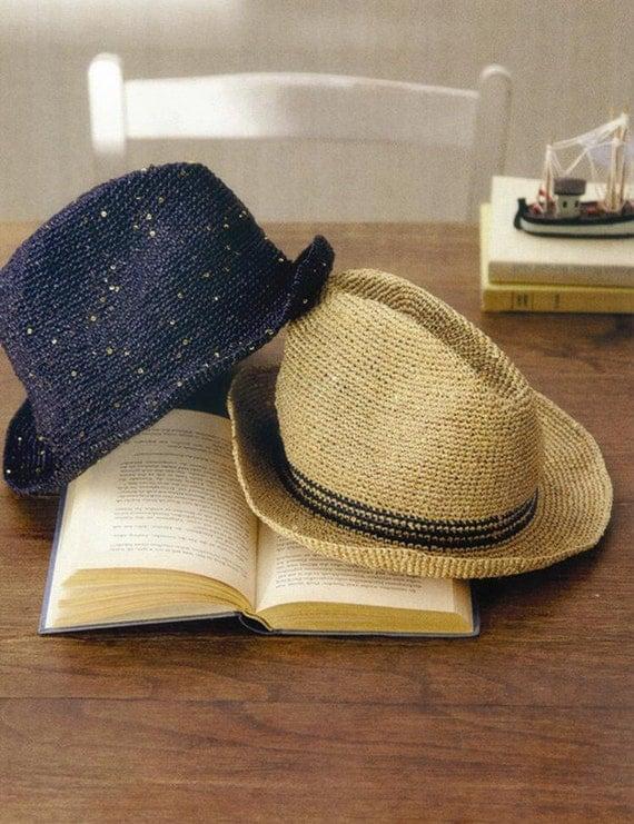 Crochet Raffia Cowboy Hat Pattern : Unavailable Listing on Etsy
