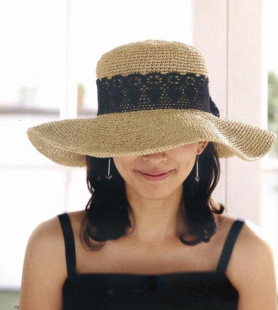 crochet hat women crochet sun hat with wide brim in by ...