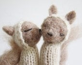 FINGER PUPPET MOBILE, Needle Felted Squirrelss, baby, children, kids, eco-friendly toy, nursery decor