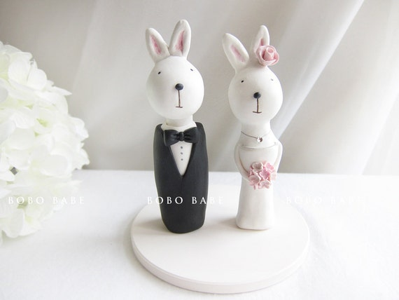 Bunny cake topper wedding