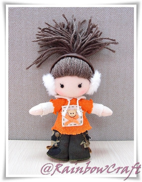 RainbowCraft, Fabric Doll Charm (A)