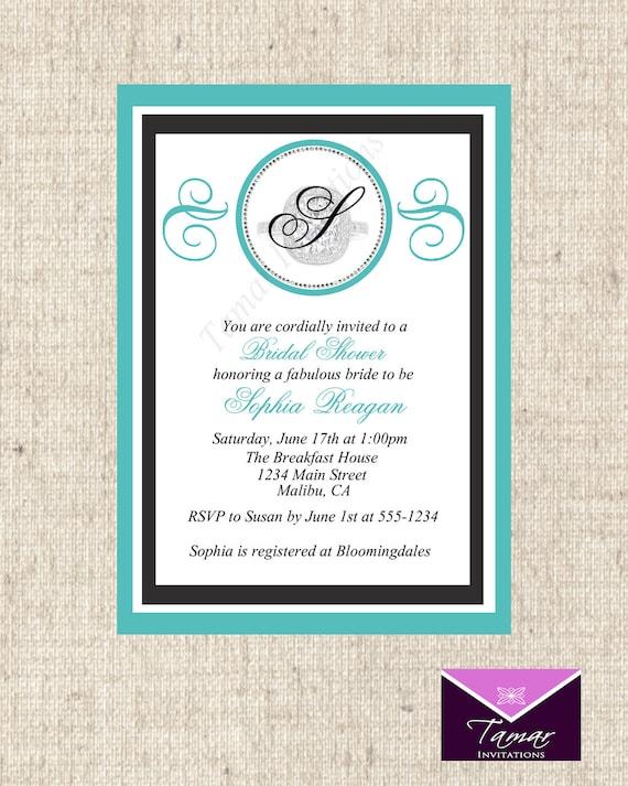 Printable Breakfast at Tiffanys Bridal Shower Invitation