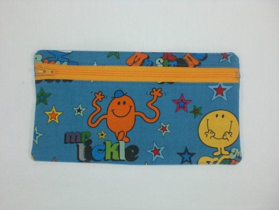 """Pencil case - Little Mr Men 8"""" zipper pouch"""