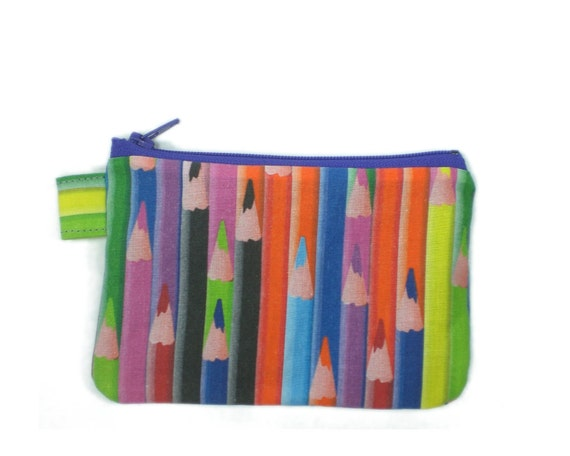 Colored pencils zipper pouch - 5 inch