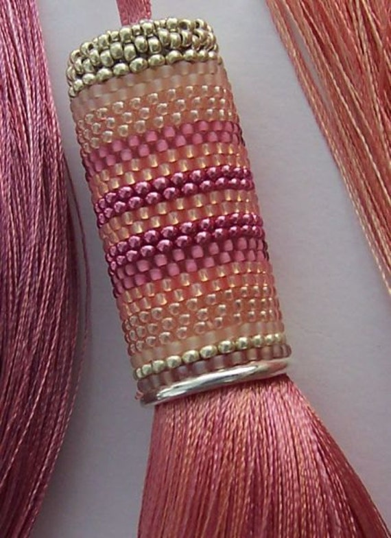 Pretty in Pink - Pale Coral/  Dusky Pink Tassel