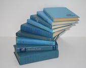Bright Blue Books 9  Instant Library Collection by Color Interior Design Home Decor