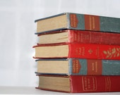 Shabby Chic  Book Collection 5 Interior Design  Blue Red Decor Photography Prop