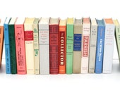 Vintage Book Collection 16  Instant Library Collection Home Decor  Pottery Barn Style Cottage Home