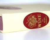 Vintage Wine Book Creamy Yellow Red decor Pottery Barn Style Cottage Home