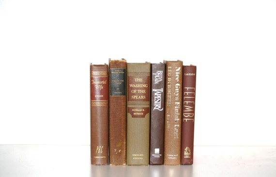 Brown Vintage 6 Book Collection Interior Design Fathers Day Chocolate Color