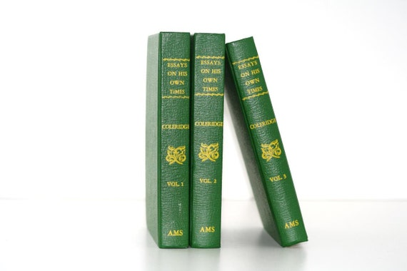 Essays On His Own Times Bright Green 3 Volume Book Collection Interior Design