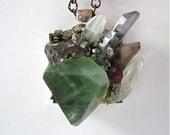 "Green- Mother Nature-Minerals- Magic- ""Super Minerals""  Pendant by Pauletta Brooks"