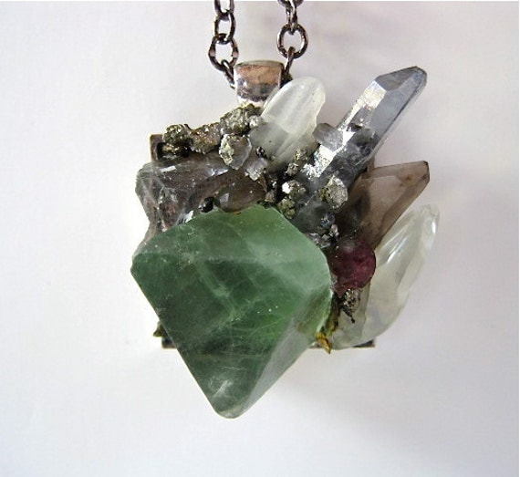 "Green- Mother Nature-Minerals- Magic- ""Super Minerals""  Pendant by Pauletta Brooks"