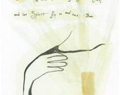 """Rumi-Spirit 11""""x14"""" Archival Art Print by Patricia Robin Woodruff"""