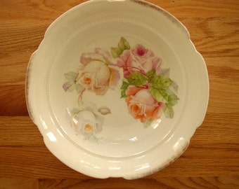 """Bavarian 11"""" Bowl with Cabbage Roses"""