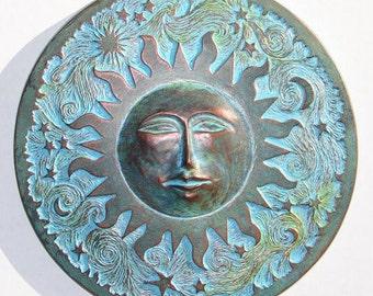 Concrete Sun Plaque