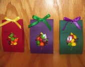 Autumn leaf goody bags, party favors, Thanksgiving fun