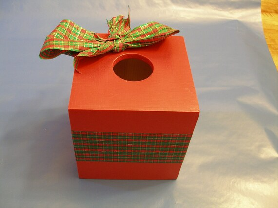 Holiday Tissue Box Cover