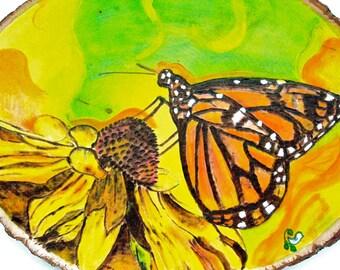 Mystical Monarch Butterfly Original Wood-Burning