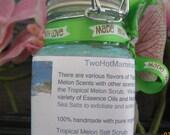 Tropical Melon, Mediterranean Sea Salt Scrub, 1 - 3oz