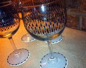 Hand Painted Wine Glasses with Colorful Design